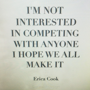 Erica Cook Not Competing