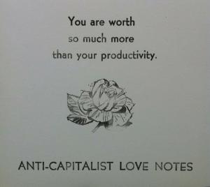 Love note anti-capitalist