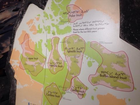 Inuit groups across Nunavut