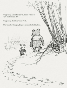 Pooh and Piglet on worry
