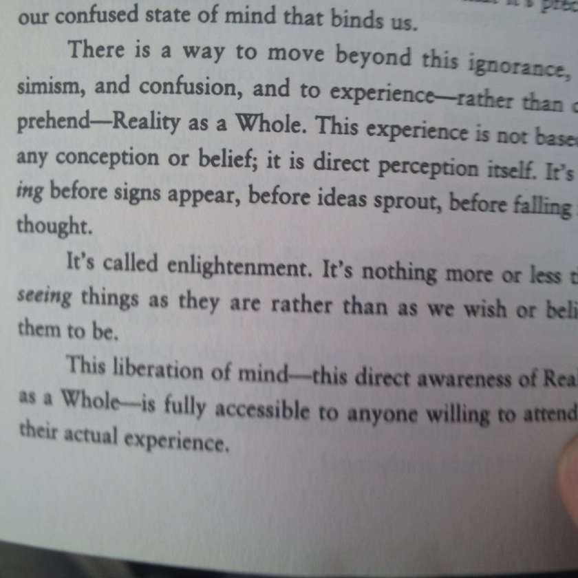 it's called enlightenment