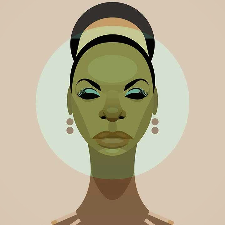 Nina Simone artistic portrait