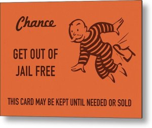 Monopoly Chance Card Jail Freedom