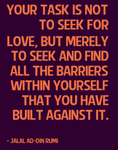 Jalal Ad-Din Rumi Quote on Love